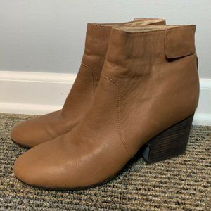 Eileen Fisher Booties Size 10 Brown Leather Boots